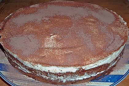 Schnelle Tiramisu - Torte mit Kirschen 17