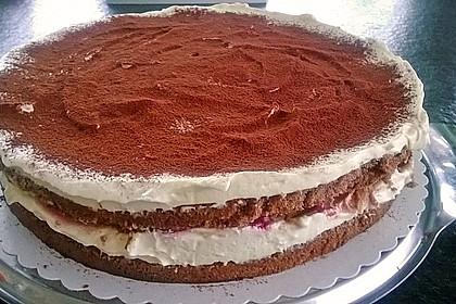 Schnelle Tiramisu - Torte mit Kirschen 21