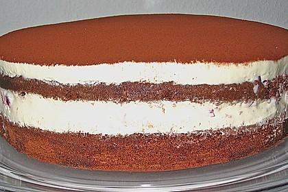 Schnelle Tiramisu - Torte mit Kirschen 12
