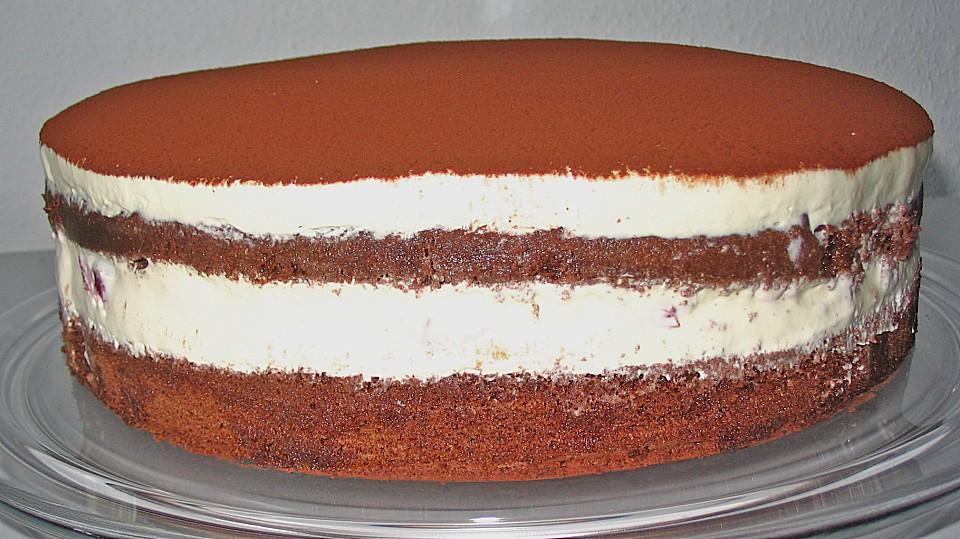 Schnelle Tiramisu - Torte mit Kirschen von bienemaya | Chefkoch.de