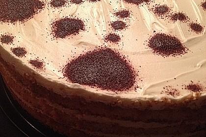 Schnelle Tiramisu - Torte mit Kirschen 11