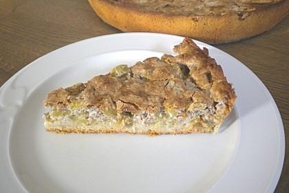 Rhabarberkuchen mit Nussbaiser 10