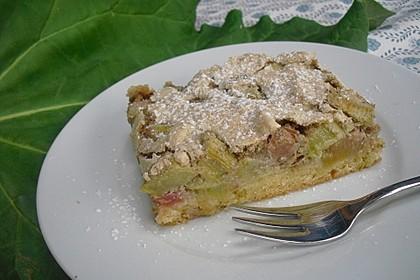 Rhabarberkuchen mit Nussbaiser 2