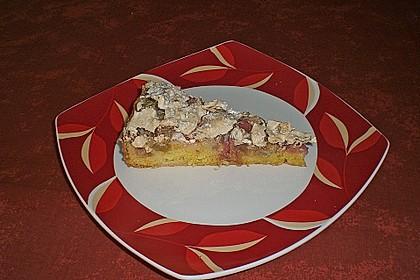 Rhabarberkuchen mit Nussbaiser 11