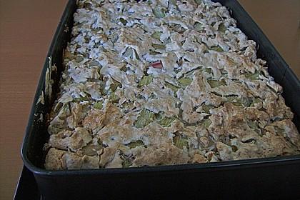 Rhabarberkuchen mit Nussbaiser 19