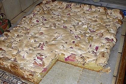 Rhabarberkuchen mit Nussbaiser 3