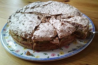 Rhabarberkuchen mit Nussbaiser 14