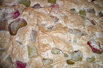 Rhabarberkuchen mit Nussbaiser 21