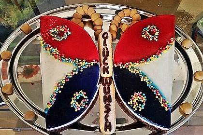 Philadelphia - Donauwelle - Butterfly - Torte 1