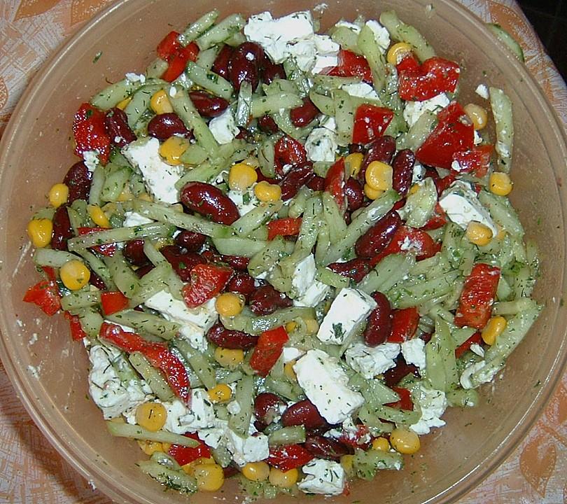 Bunter salat ohne tomaten