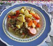 Kartoffel - Gemüseeintopf mit Mettenden