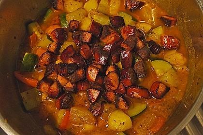 Kartoffel - Gemüseeintopf mit Mettenden 6