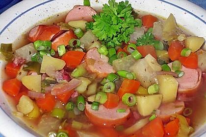 Kartoffel - Gemüseeintopf mit Mettenden 1