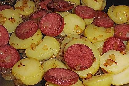 Bratkartoffeln mit Sucuk 2