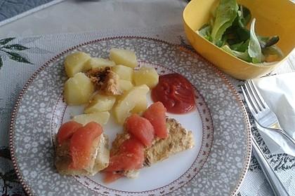 Fischfilet-Gratin mit Porree und Tomaten 13