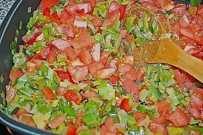 Fischfilet-Gratin mit Porree und Tomaten 21