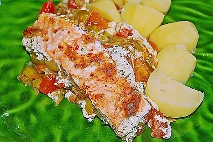 Fischfilet-Gratin mit Porree und Tomaten 3
