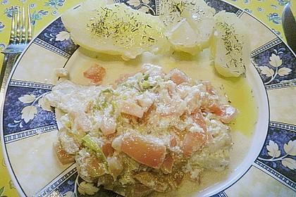 Fischfilet-Gratin mit Porree und Tomaten 31