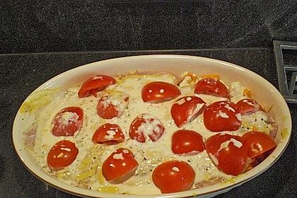 Fischfilet-Gratin mit Porree und Tomaten 27