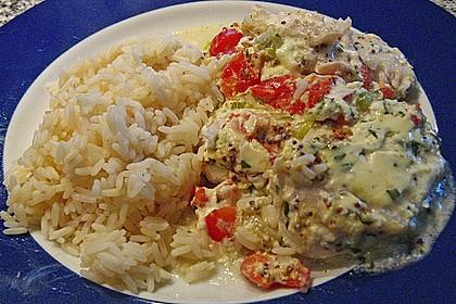 Fischfilet-Gratin mit Porree und Tomaten 23