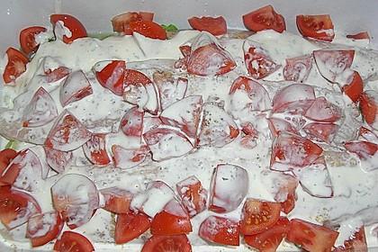 Fischfilet-Gratin mit Porree und Tomaten 32