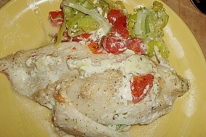 Fischfilet-Gratin mit Porree und Tomaten 30