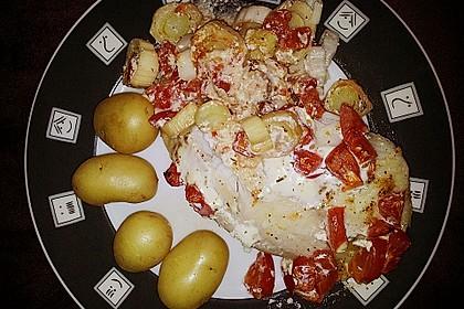 Fischfilet-Gratin mit Porree und Tomaten 9