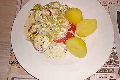 Fischfilet-Gratin mit Porree und Tomaten 34