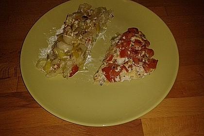 Fischfilet-Gratin mit Porree und Tomaten 33