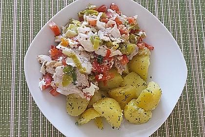 Fischfilet-Gratin mit Porree und Tomaten 8