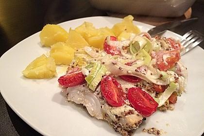 Fischfilet-Gratin mit Porree und Tomaten 1
