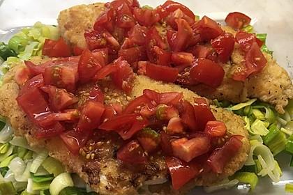 Fischfilet-Gratin mit Porree und Tomaten 15