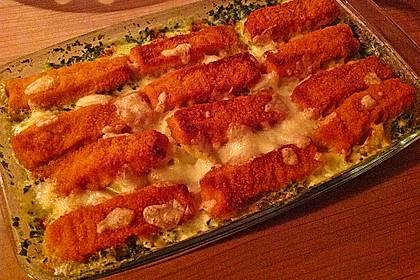 Spinat-Fischstäbchen Auflauf 20