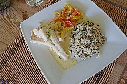 Gebratenes Zanderfilet auf Fenchel - Paprika - Gemüse 5