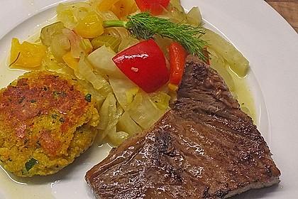 Gebratenes Zanderfilet auf Fenchel - Paprika - Gemüse 8
