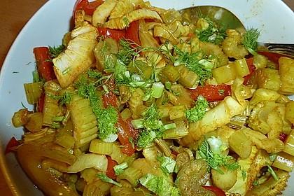 Gebratenes Zanderfilet auf Fenchel - Paprika - Gemüse 4