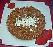 Beefsteaks mit Schafskäse (Bild)