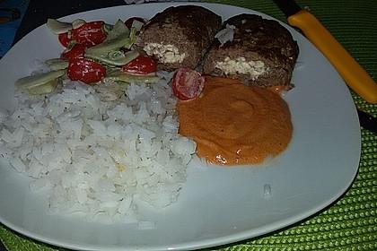 Beefsteaks mit Schafskäse 46