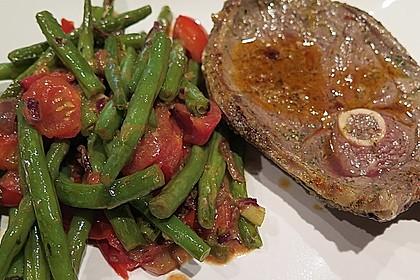 Grüne Bohnen mit Tomaten und Balsamico 3
