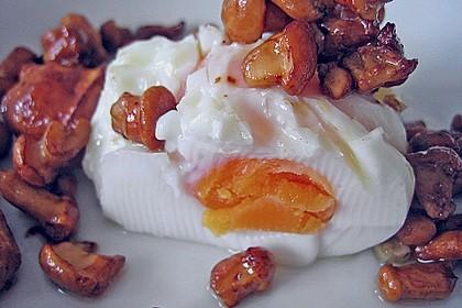 Gebratene Pilze mit pochiertem Ei 3
