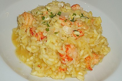 Safran - Risotto mit Flusskrebsen und Shrimps 2