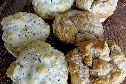 Fettfreie Zitronen - Mohn Muffins 6