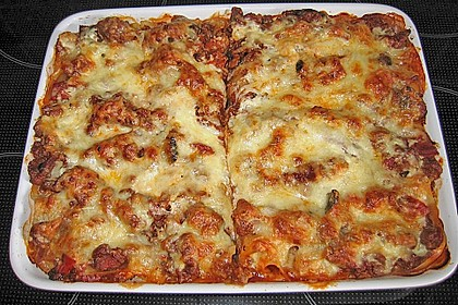 Leichte Lasagne Bologneser Art