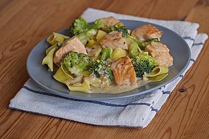 Lachs - Brokkoli - Sahne - Sauce