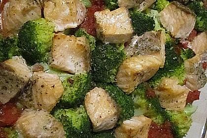 Lachs - Brokkoli - Sahne - Sauce 3