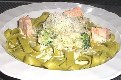 Lachs - Brokkoli - Sahne - Sauce 1