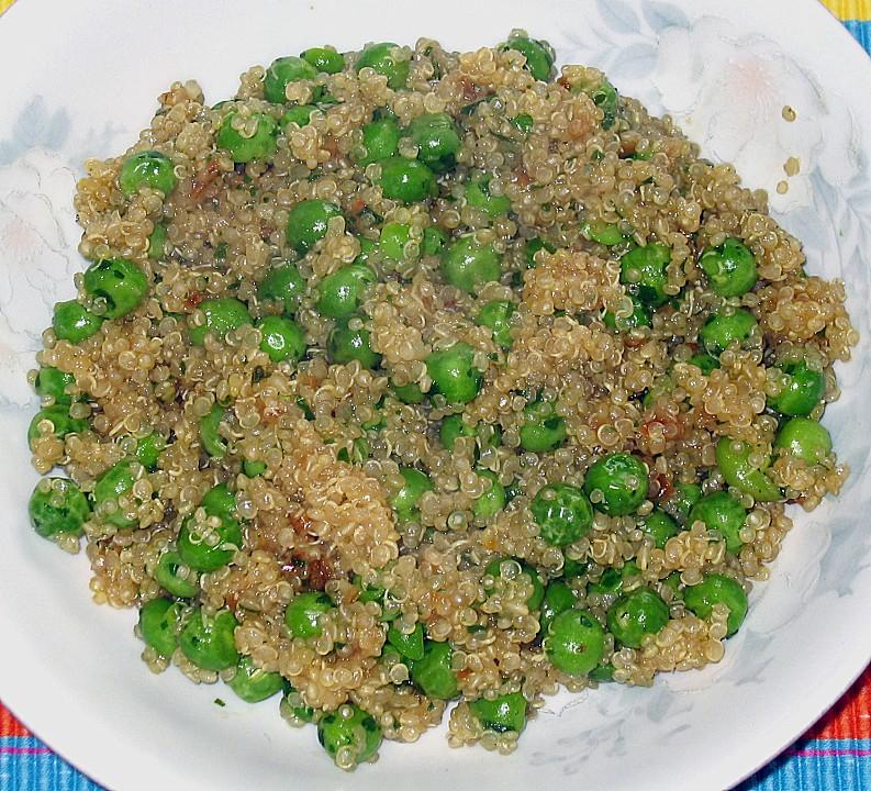 quinoa mit erbsen rezept mit bild von igel 123. Black Bedroom Furniture Sets. Home Design Ideas