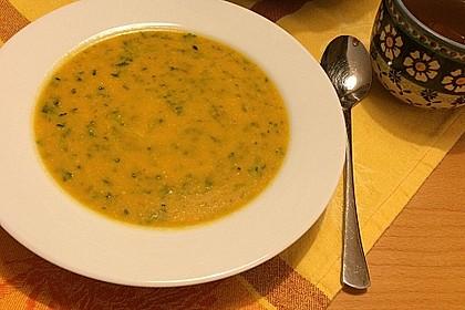 Kokos - Möhren - Spinat - Suppe 1