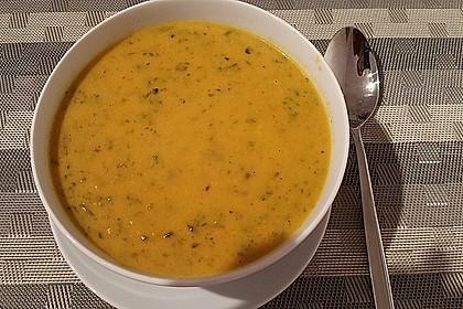 Kokos - Möhren - Spinat - Suppe 5