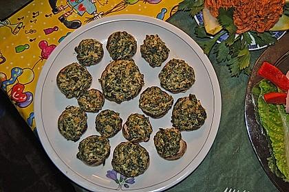 Champignons gefüllt mit Spinat